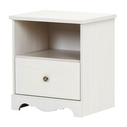 South Shore Caravell Nightstand in White Wash