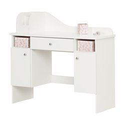 South Shore Vito Writing Desk in Pure White