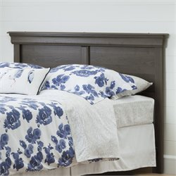 South Shore Vintage Full Queen Headboard in Gray Maple