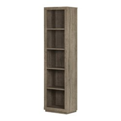 South Shore Kanji 5 Shelf Narrow Bookcase in Weathered Oak
