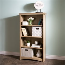 South Shore Artwork 4 Shelf Bookcase in Rustic Oak