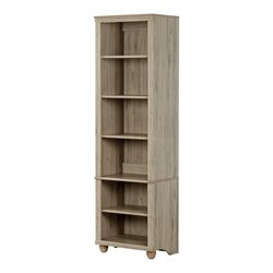 South Shore Hopedale 6 Shelf Bookcase in Rustic Oak