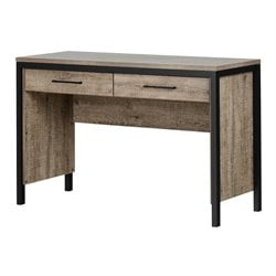 South Shore Munich Writing Desk in Weathered Oak and Matte Black