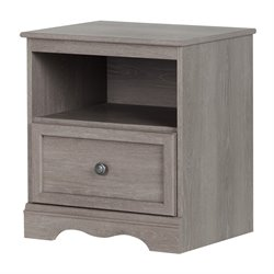 South Shore Savannah 1 Drawer Nightstand in Sand Oak
