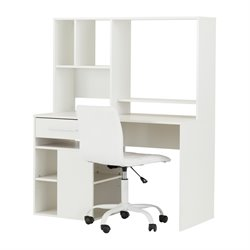 South Shore Annexe Writing Desk and Office Chair in Pure White