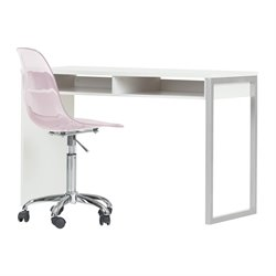 South Shore Interface Writing Desk and Chair in White