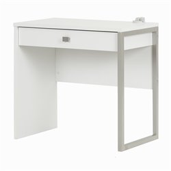 South Shore Interface Computer Desk in Pure White