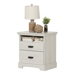 South Shore Avilla 2 Drawer Nightstand in Winter Oak