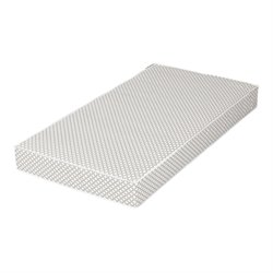 South Shore Somea Baby Crib Mattress in Gray and White