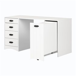 South Shore Artwork Writing Desk in Pure White