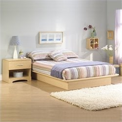 South Shore Copley Light Maple Wood Platform Bedroom Set