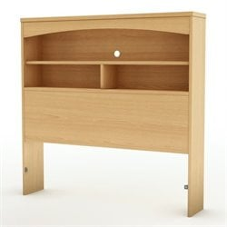 South Shore Shiloh Twin Bookcase Headboard in Maple
