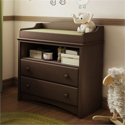 South Shore Furniture Angel Changing Table in Espresso
