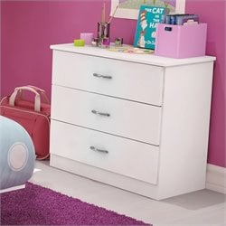 South Shore Libra Kids 3 Drawer Chest in Pure White