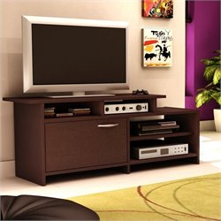 South Shore Back Bay TV Stand in Chocolate Finish