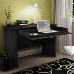 South Shore Secretary Desk in Solid Black Finish