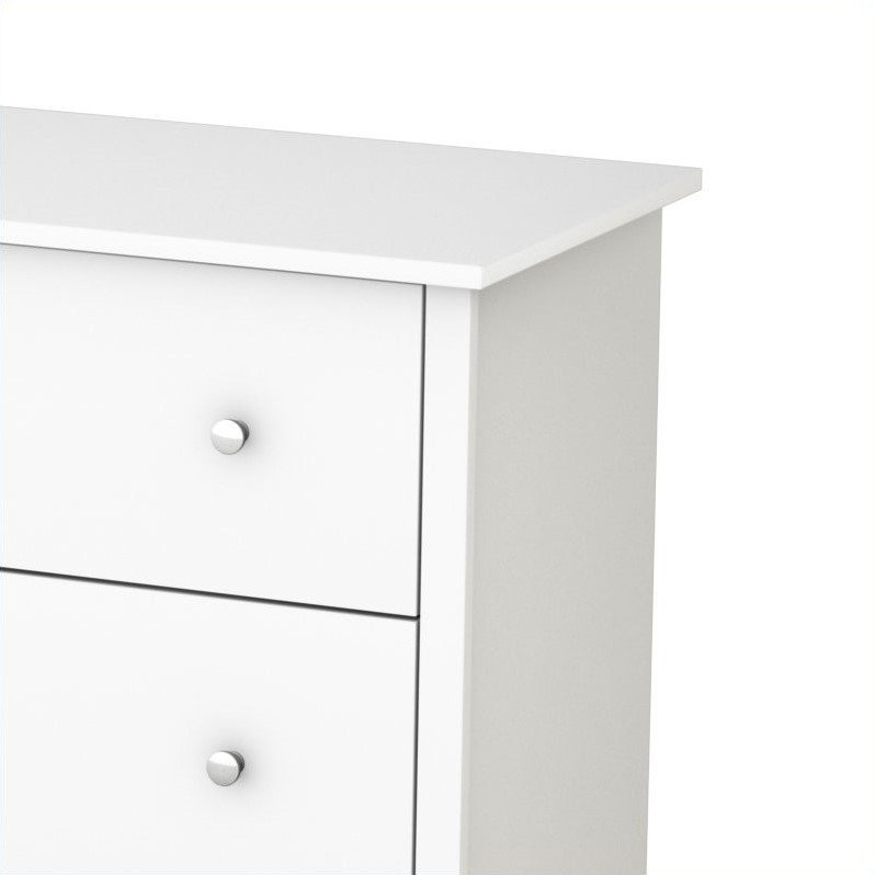 South Shore Breakwater 6 Drawer Double Dresser in Pure White Finish