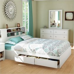 South Shore Breakwater Bookcase Storage Bed