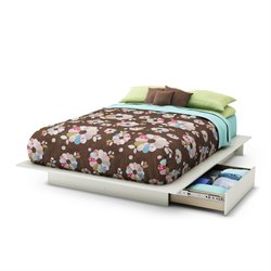 Maddox Step One Queen Storage Platform Bed in White