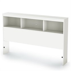 South Shore Affinato Bookcase Headboard in White