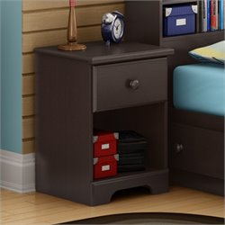 South Shore Summer Breeze Nightstand in Chocolate Finish