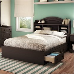 South Shore Summer Breeze   Bookcase Storage Bed Set