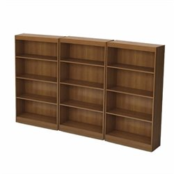 South Shore Office 4 Shelf Wall Bookcase in Morgan Cherry