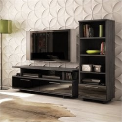 South Shore Reflekt TV Stand in Gray Oak