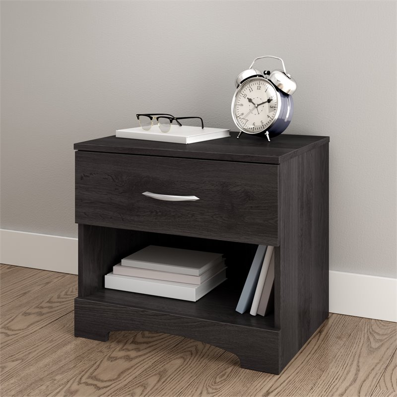 South Shore Maddox Nightstand in Gray Oak