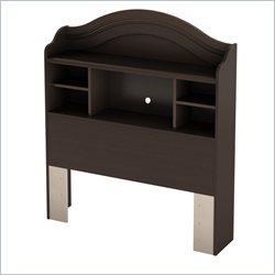 South Shore Savannah Twin Bookcase Headboard in Espresso