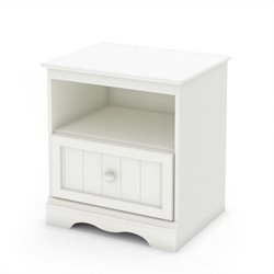 South Shore Handover Nightstand in Pure White