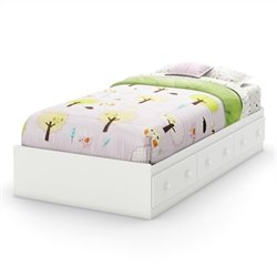 South Shore Handover Twin Mates Bed in Pure White
