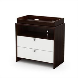 South Shore Cookie Changing Table in Mocha & White