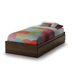 South Shore Cookie Twin Storage Bed in Mocha