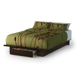 South Shore Trinity Full/Queen Platform Bed with Drawer