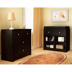 South Shore Little Teddy 3-Drawer Chest in Chocolate