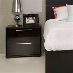 South Shore Mikka Contemporary Style Night Stand in Black Oak