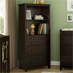 South Shore Little Smiley Transitional Style Chest in Espresso