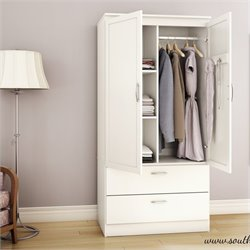 South Shore Acapella Wardrobe Armoire in Pure White
