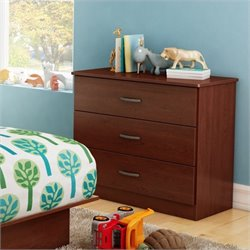 South Shore Libra 3 Drawer Chest in Royal Cherry