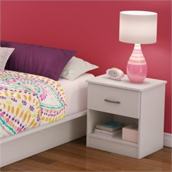 South Shore Libra Nightstand in Pure White