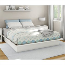 South Shore Libra King Platform Bed with Mouldings