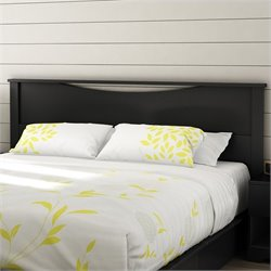 South Shore Step One King Panel Headboard in Black