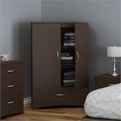 South Shore Step One Armoire in Chocolate