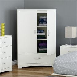 South Shore Step One Armoire in Pure White