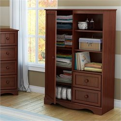 South Shore Savannah Armoire in Royal Cherry