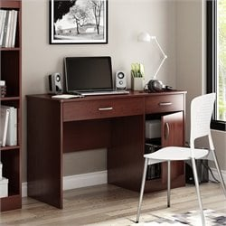 South Shore Axess Small Computer Desk in Royal Cherry