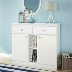 South Shore Morgan Storage Console in Pure White