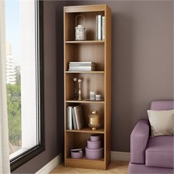 South Shore Axess 5-Shelf Narrow Bookcase in Morgan Cherry