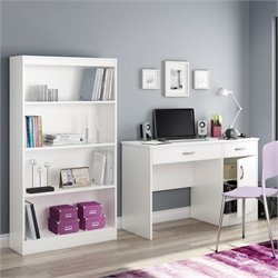 South Shore Axess 2 Piece Office Set in White